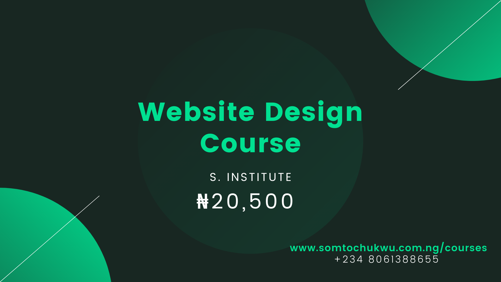Website Design Course of S. Tech Institute (www.somtochukwu.com.ng)